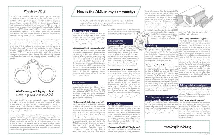Communities say NO to ADL - May 2018 - page 1